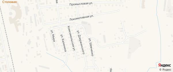Улица Шевченко на карте Няндомы с номерами домов