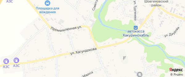 Улица Хагундокова на карте аула Мамхег с номерами домов