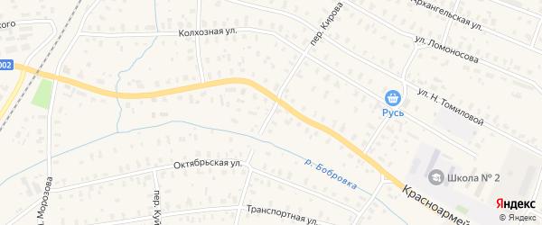 Переулок Кирова на карте Няндомы с номерами домов