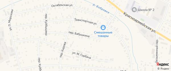 Переулок Бабушкина на карте Няндомы с номерами домов