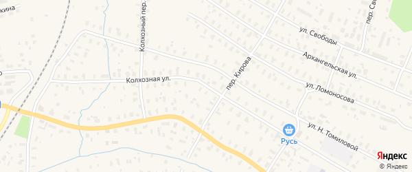 Колхозная улица на карте Няндомы с номерами домов
