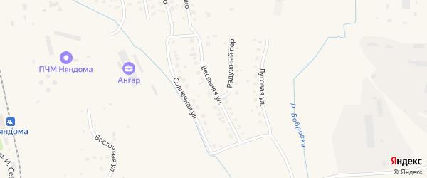 Весенняя улица на карте Няндомы с номерами домов