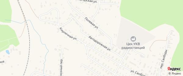 Автодорожная улица на карте Няндомы с номерами домов