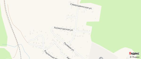Холмогорская улица на карте Няндомы с номерами домов