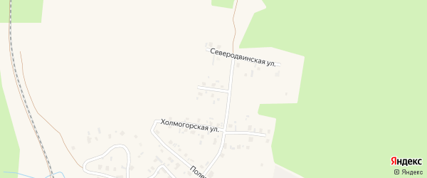 Плесецкая улица на карте Няндомы с номерами домов