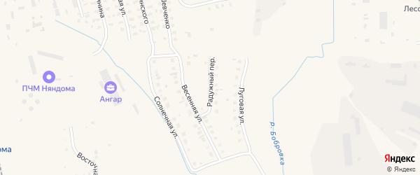 Радужный переулок на карте Няндомы с номерами домов