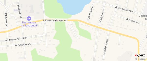 Рождественская улица на карте поселка Коноши с номерами домов