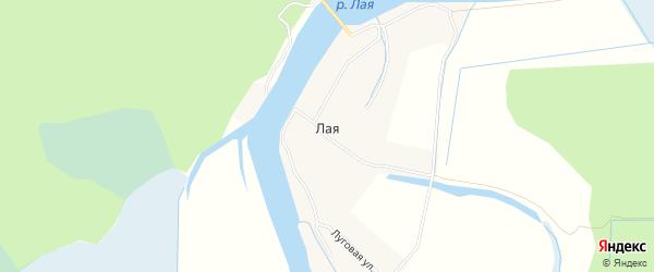 Карта Лая деревни в Архангельской области с улицами и номерами домов