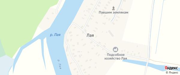 Заречная улица на карте Лая деревни с номерами домов
