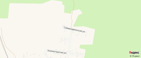 Северодвинская улица на карте Няндомы с номерами домов