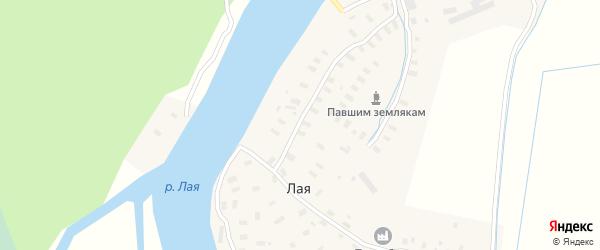 Луговая улица на карте Лая деревни с номерами домов