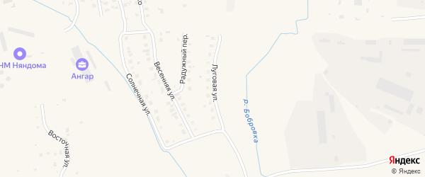 Луговая улица на карте Няндомы с номерами домов
