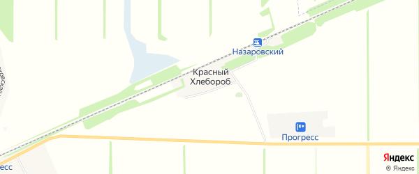 Карта хутора Красного Хлебороба в Адыгее с улицами и номерами домов