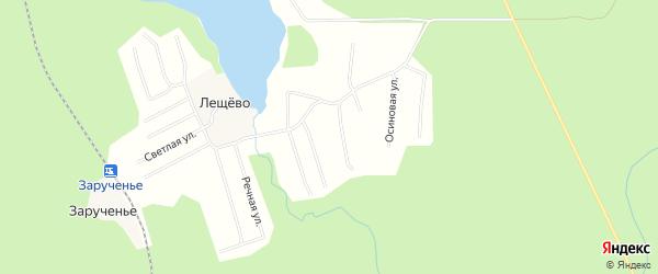 Карта поселка СОТА Строителя в Архангельской области с улицами и номерами домов