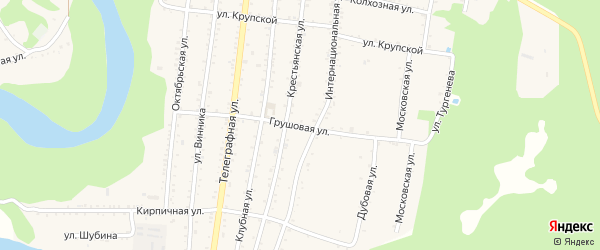 Грушовая улица на карте Абадзехской станицы с номерами домов