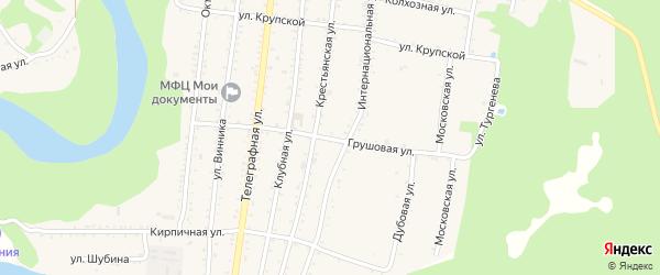 Грушовая улица на карте садового некоммерческого товарищества Ягодки с номерами домов