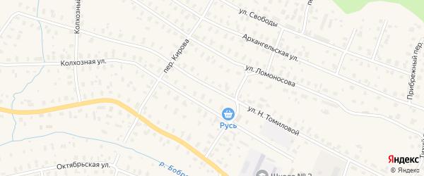 Улица Н.Томиловой на карте Няндомы с номерами домов