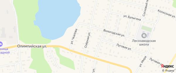 Озерная улица на карте поселка Коноши с номерами домов