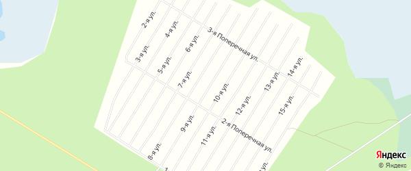 СНТ ЛАЙСКОЕ на карте Приморского района с номерами домов
