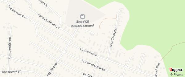 Лесной переулок на карте железнодорожной станции Бурачихи с номерами домов