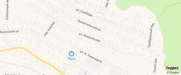 Улица Ломоносова на карте Няндомы с номерами домов