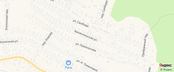 Архангельская улица на карте Няндомы с номерами домов