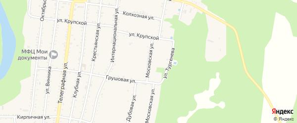 Московская улица на карте Абадзехской станицы с номерами домов