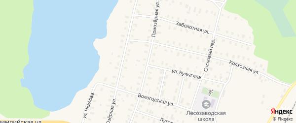 Приозерная улица на карте поселка Коноши с номерами домов