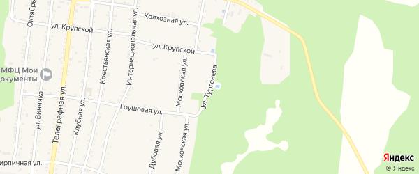 Улица Тургенева на карте Абадзехской станицы с номерами домов