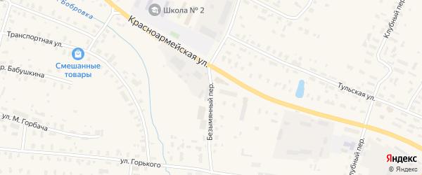 Безымянный переулок на карте Няндомы с номерами домов