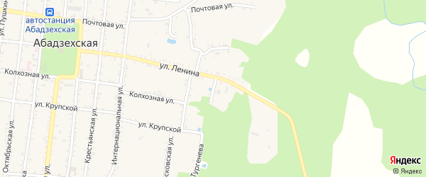 Улица Чапаева на карте Абадзехской станицы с номерами домов