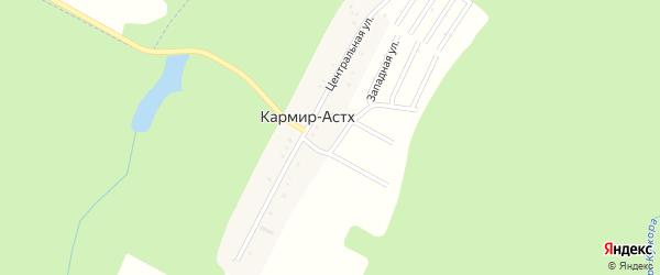 Лесная улица на карте хутора Кармира-Астх с номерами домов