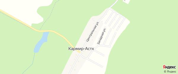 Центральная улица на карте Трехречного поселка с номерами домов