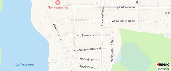 Улица Энгельса на карте поселка Коноши с номерами домов