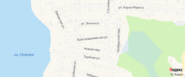 Красноармейская улица на карте поселка Коноши с номерами домов