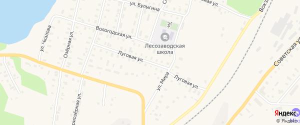 Луговая улица на карте поселка Коноши с номерами домов