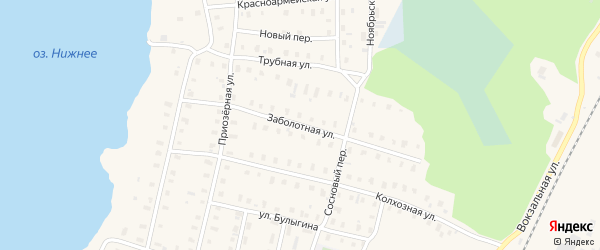 Заболотная улица на карте поселка Коноши с номерами домов