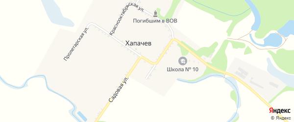 Пролетарская улица на карте хутора Хапачева с номерами домов