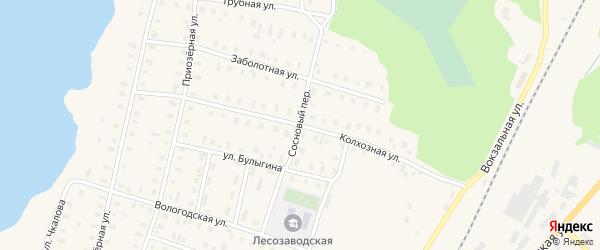 Колхозная улица на карте поселка Коноши с номерами домов
