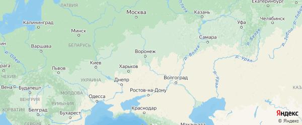 Карта Воронежской области с городами и районами