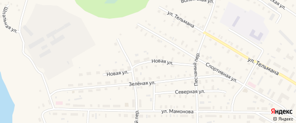 Новая улица на карте поселка Коноши с номерами домов