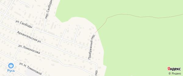 Прибрежный переулок на карте Няндомы с номерами домов