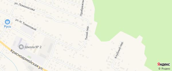 Тихий переулок на карте Няндомы с номерами домов