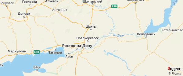 Карта Октябрьского района Ростовской области с городами и населенными пунктами