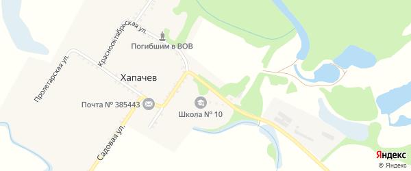 Кузнечная улица на карте хутора Хапачева с номерами домов