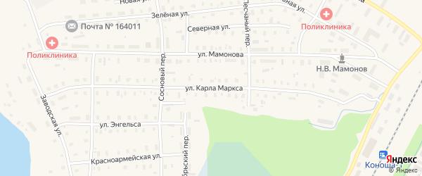 Улица Карла Маркса на карте поселка Коноши с номерами домов