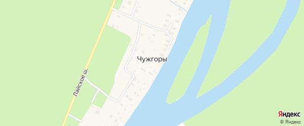 Набережная улица на карте деревни Чужгор с номерами домов