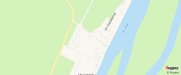 Лесная улица на карте деревни Чужгор с номерами домов