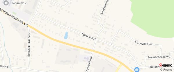 Тульская улица на карте Няндомы с номерами домов