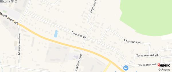 Клубный переулок на карте Няндомы с номерами домов
